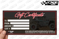 CageWrx Gift Certificate
