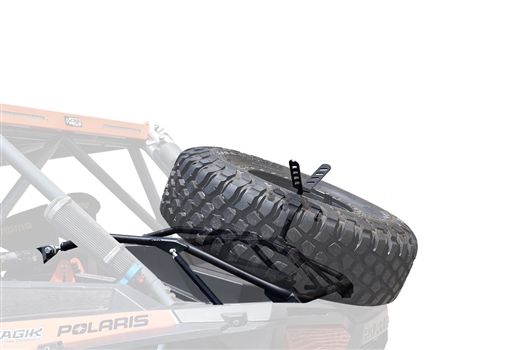 CageWrx Polaris RZR XP 1000 spare tire carrier UTV utility vehicle