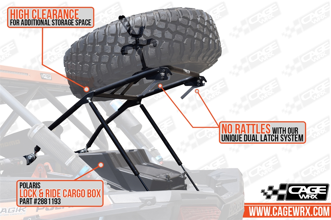 RZR XP 1000/Turbo S Spare Tire Carrier - High